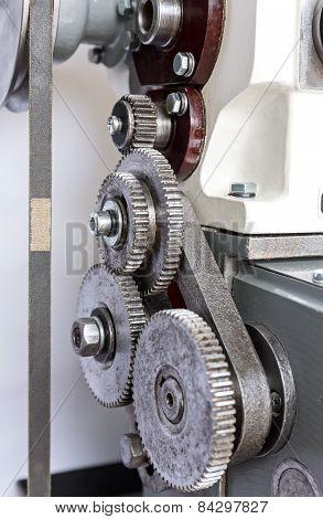 Metal Cogwheels Of Lathe
