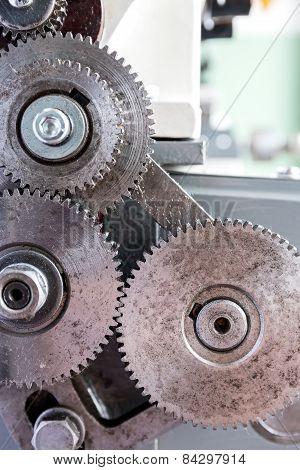 Gear Wheels Closeup