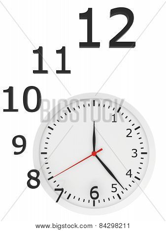 abstract clock with arrows and numbers.