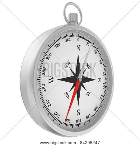 Compass with windrose isolated on white background