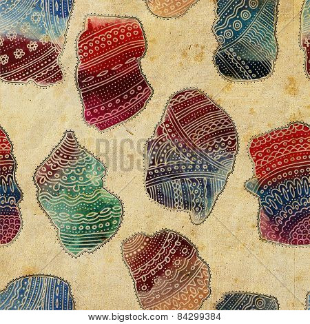 Seamless Ornamental Ethnic Pattern With Indian Eastern Vivid Watercolor