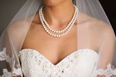 picture of human neck  - bride neck line on her wedding day - JPG