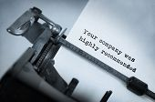 stock photo of recommendation  - Vintage inscription made by old typewriter Your company was highly recommended - JPG