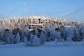 image of north-pole  - A small village on a hill in Finland - JPG