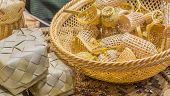 picture of handicrafts  - image of thailand bamboo toys handicraft  - JPG