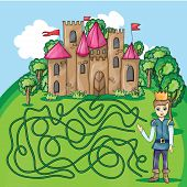 picture of prince charming  - Maze game  - JPG
