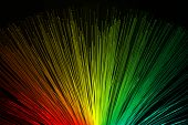 picture of end rainbow  - In optical fibers occurs colored light at the end - JPG