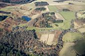 picture of lowlands  - Aerial photo taken during a flight over the lowlands of scottland in February - JPG