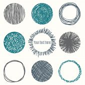 picture of shapes  - Hand drawn circle banners - JPG