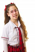 picture of purim  - Teenage girl dressed up in a 60 - JPG
