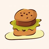 picture of high calorie foods  - Fast Food Hamburger Flat Icon Elements - JPG