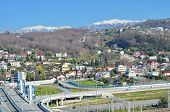 image of sochi  - The rail and road bridges in Adlersky District Sochi - JPG