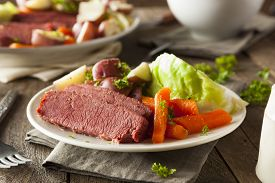 pic of st patty  - Homemade Corned Beef and Cabbage with Carrots and Potatoes - JPG