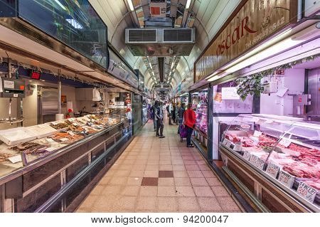 Interior Of The Market In Zaragoza