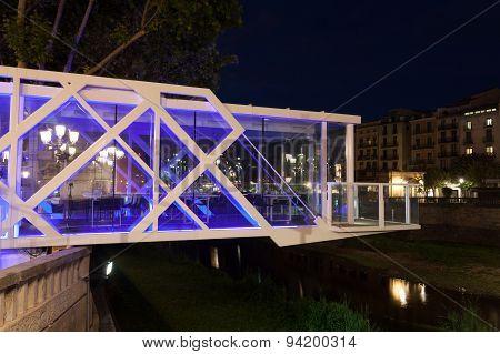 Hanging Restaurant In Girona, Spain