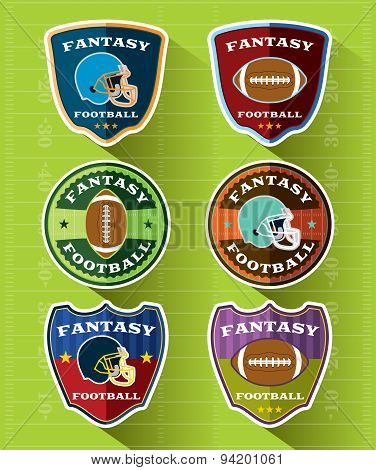 Fantasy Football Emblems And Badges Set