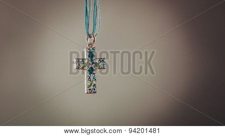 Cross Necklace Pendant. Christian Religion Faith.