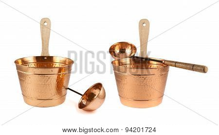 Copper bucket and ladle composition isolated