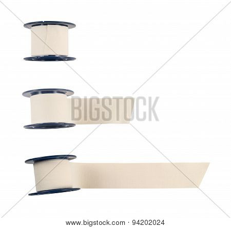 Adhesive bandage sticking plaster isolated