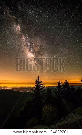 Milky Way Over The Blue Ridge Mountains