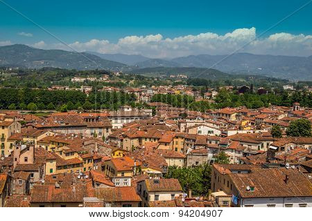 View of old town, Lucca, Italy