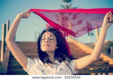 Young Girl Feeling Freedom