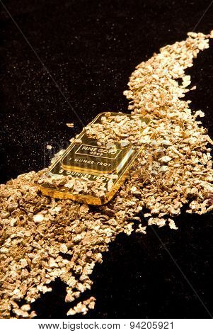 Gold In Coins, Nuggets And Ingots