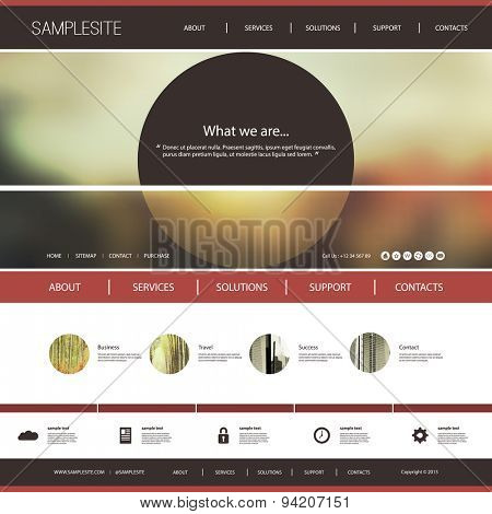Website Template with Interesting Header Design Concept