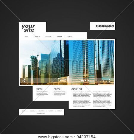 Website Template with Unique Design - Singapore Skyline