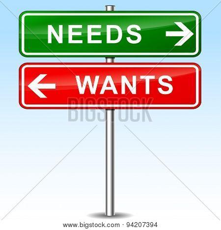 Needs Sign