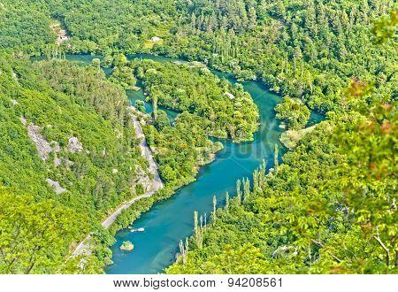 Cetina River Pano From Viseci Kuk