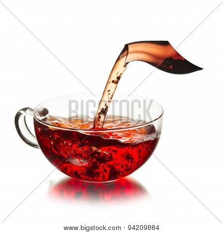 Cup Of  Tea With Splash