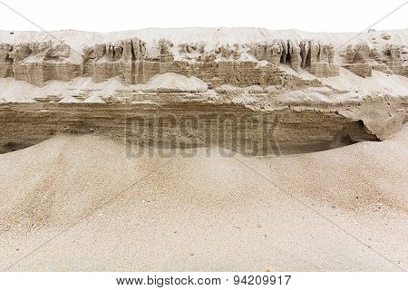 Natural Sand Layers Background