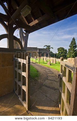 Gateway To A Traditional English Churchyard