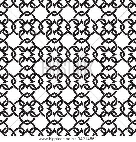 Seamless pattern of hearts in celtic knotting style