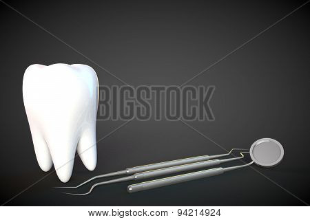 Tooth Molar Tooth Dental Hygiene Dentist 3D black