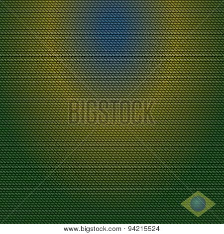 Abstract Vector Background With Yellow, Blue, And Green Color With Element Of Brazilian Flag.