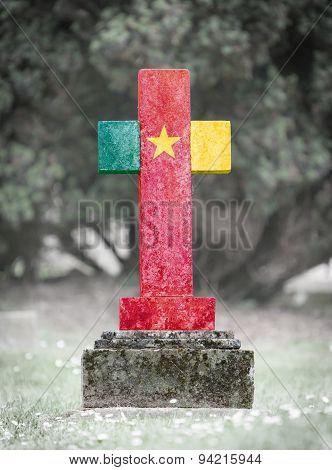 Gravestone In The Cemetery - Cameroon