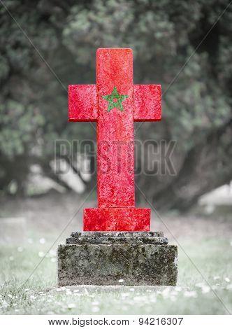 Gravestone In The Cemetery - Morocco