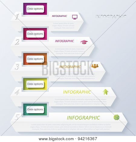 Abstract Vector Design Infographic With Numbers (can Be Used For Your Web Design,  Workflow Or Graph