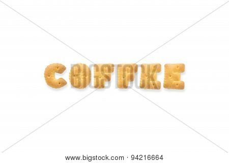 The Letter Word Coffee Alphabet  Cookie Biscuits
