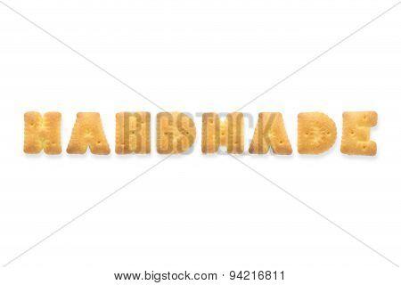 The Letter Word Handmade Alphabet Biscuit Cracker