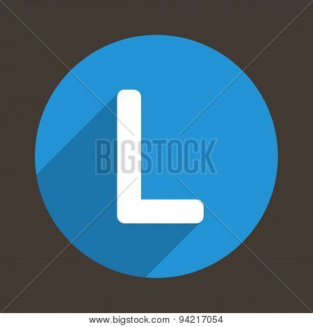 Letter L Logo Flat Icon Style. Vector