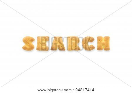 The Letter Word Search Alphabet Biscuit Cracker