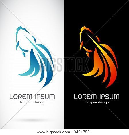 Vector Image Of An Goldfish Design On White Background And Black Background, Logo, Symbol