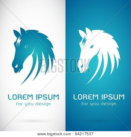 Vector Image Of An Horse Design On White Background And Blue Background, Logo, Symbol
