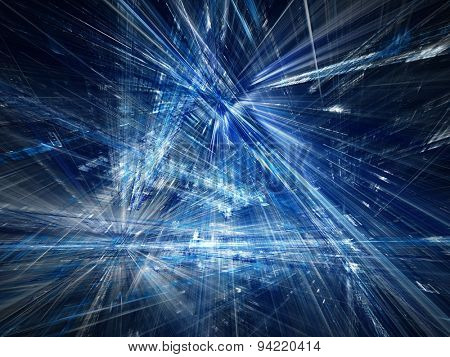 Abstract blue background - digital processing concept