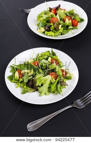 Delicious salad on the table