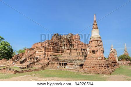 Wat Phra Mahathat Ruins In Ayuthaya Historic Park, Thailand