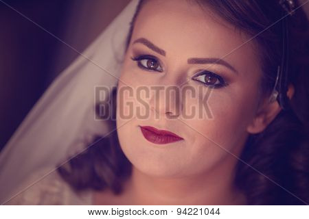 Beautiful Bride To Be Wearing Make Up